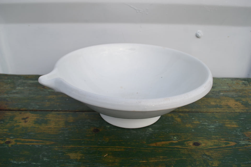 A Dutch white ironstone mixing bowl