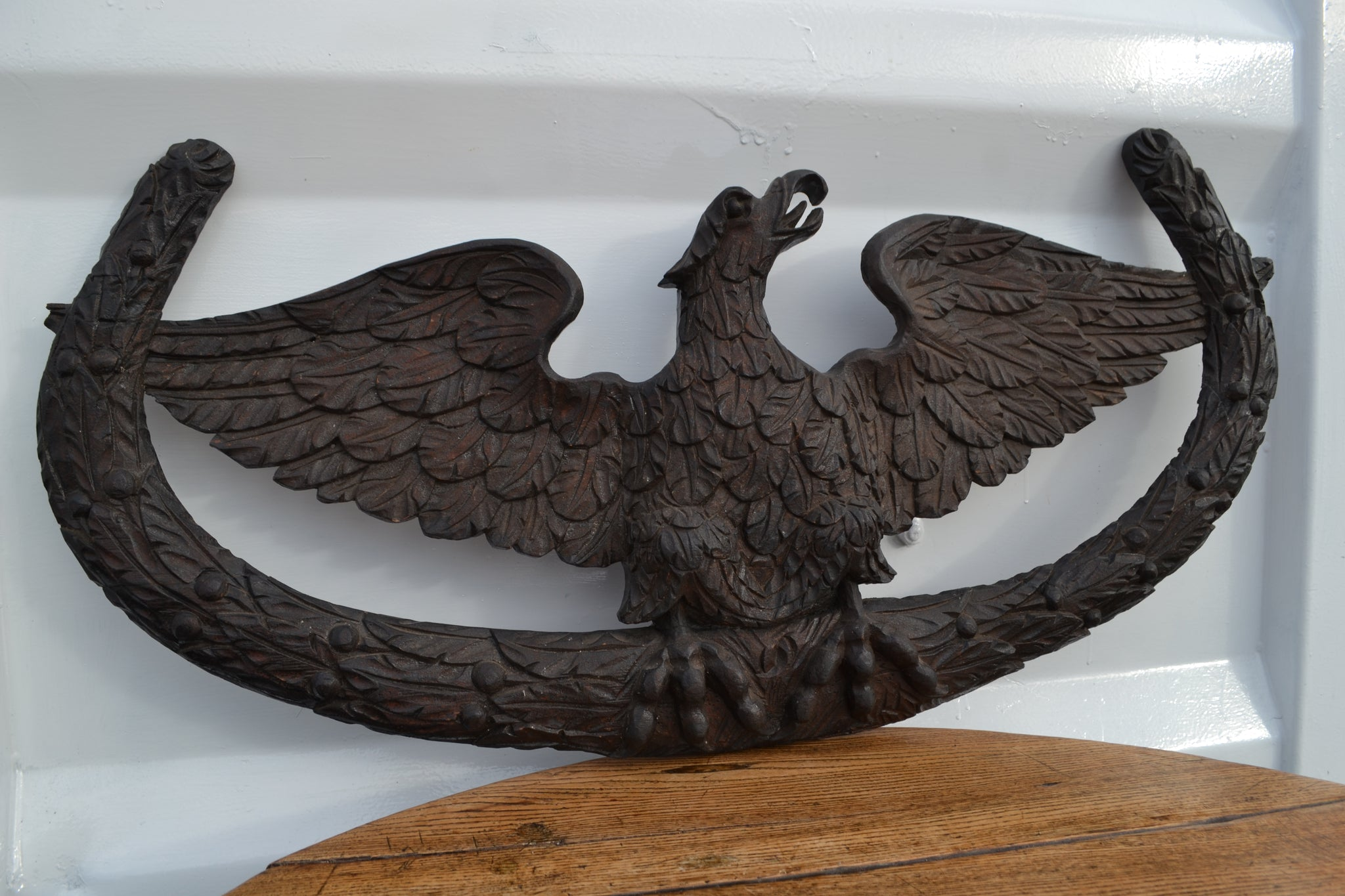 Imperial Eagle Black Forest wall carving