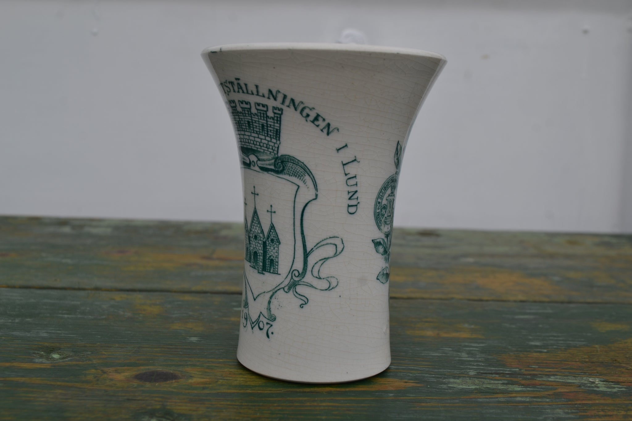 A commemorative Kaffe beaker from the 1907 Swedish Exhibition