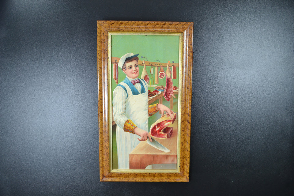 Embossed Victorian Butchers Showcard