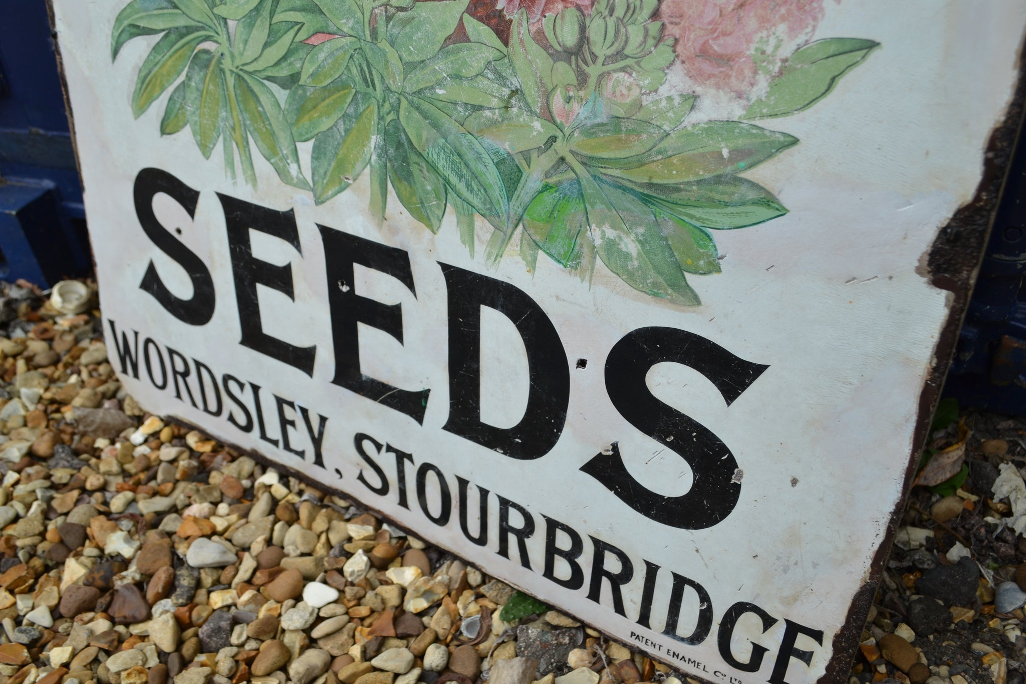 A Webbs' seeds Stocks enamel sign