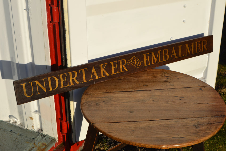 An Undertaker and Embalmer sign