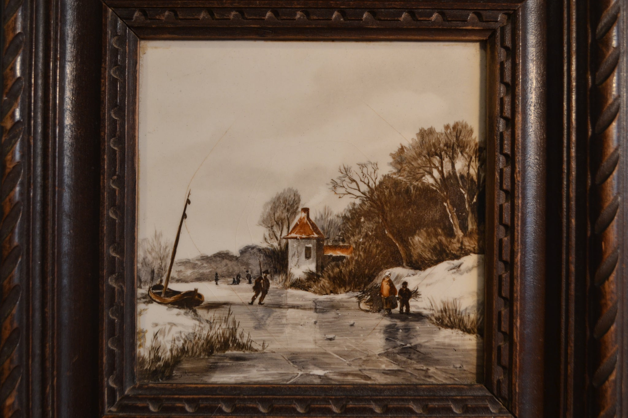 German Winter Scene Tile