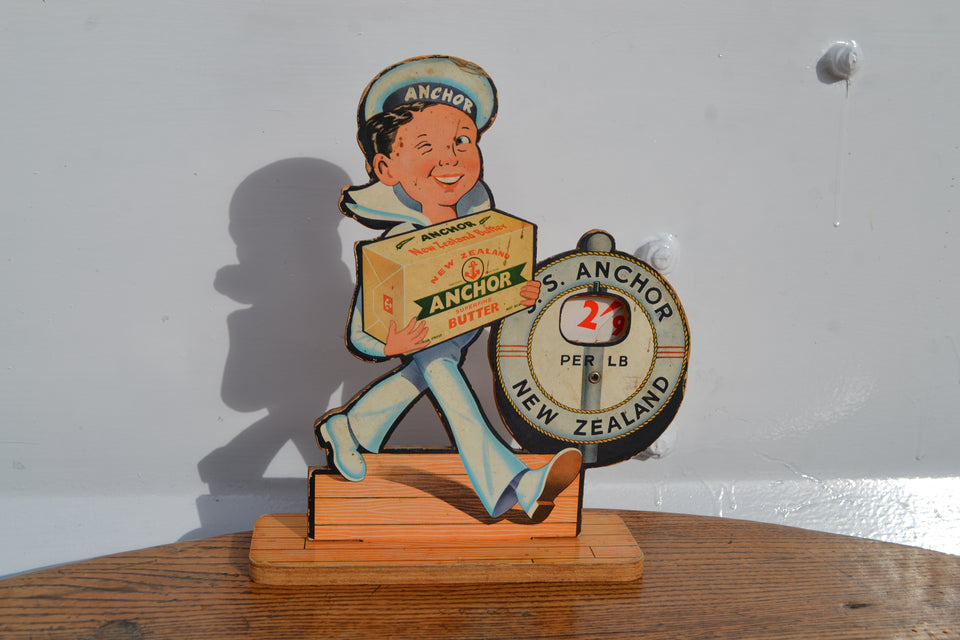 Anchor butter advertising sailor