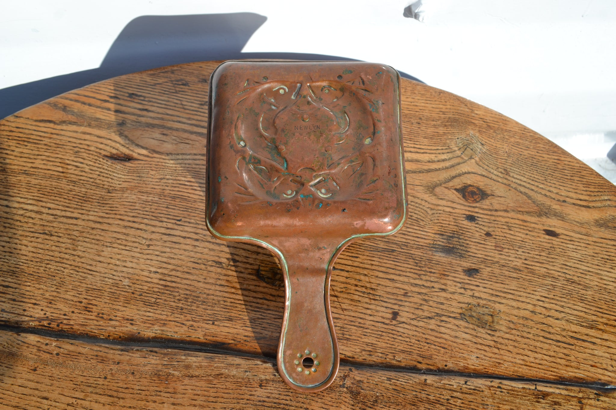 A copper Arts and crafts Newlyn chamberstick