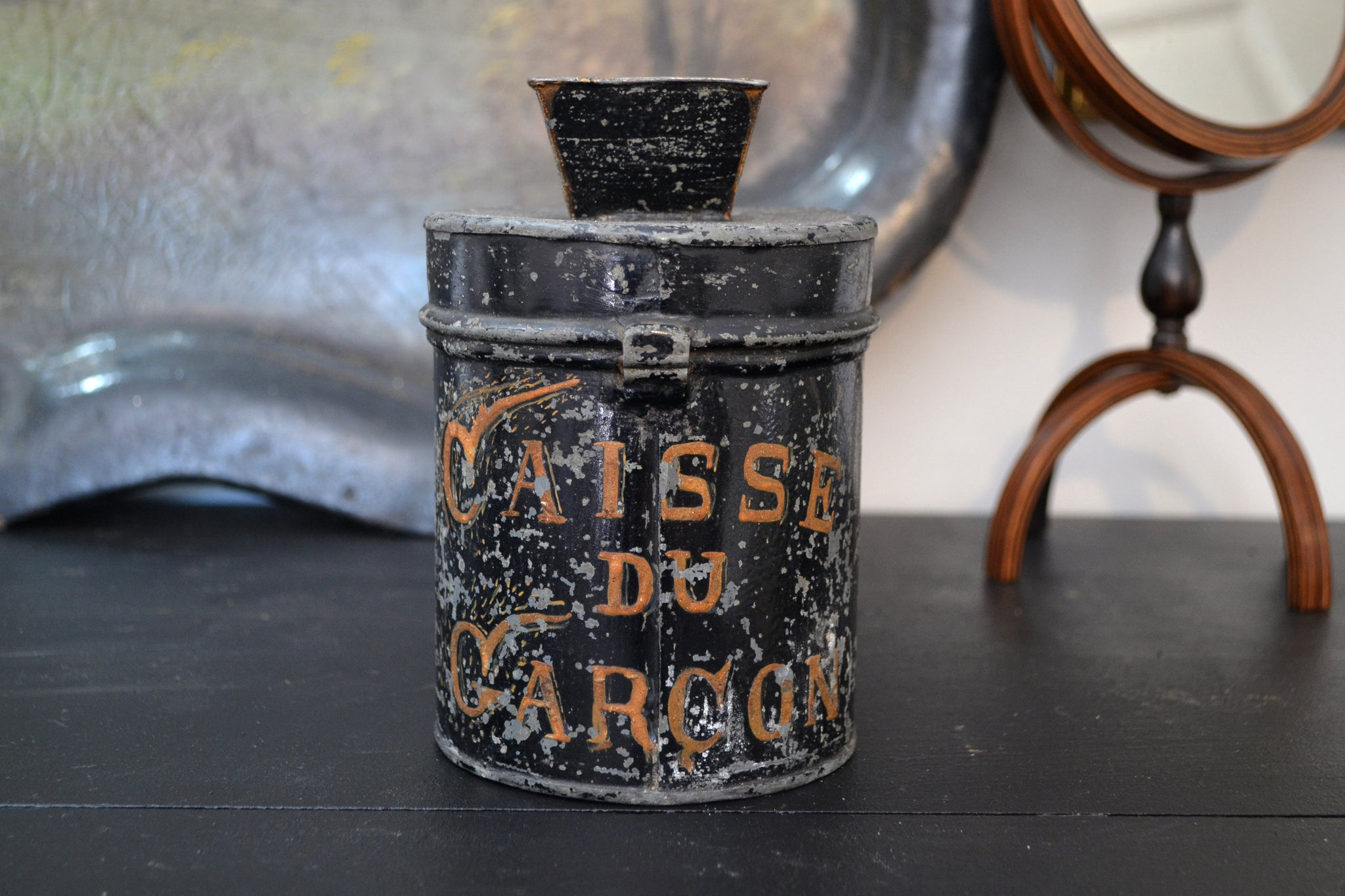 French toleware tips jar