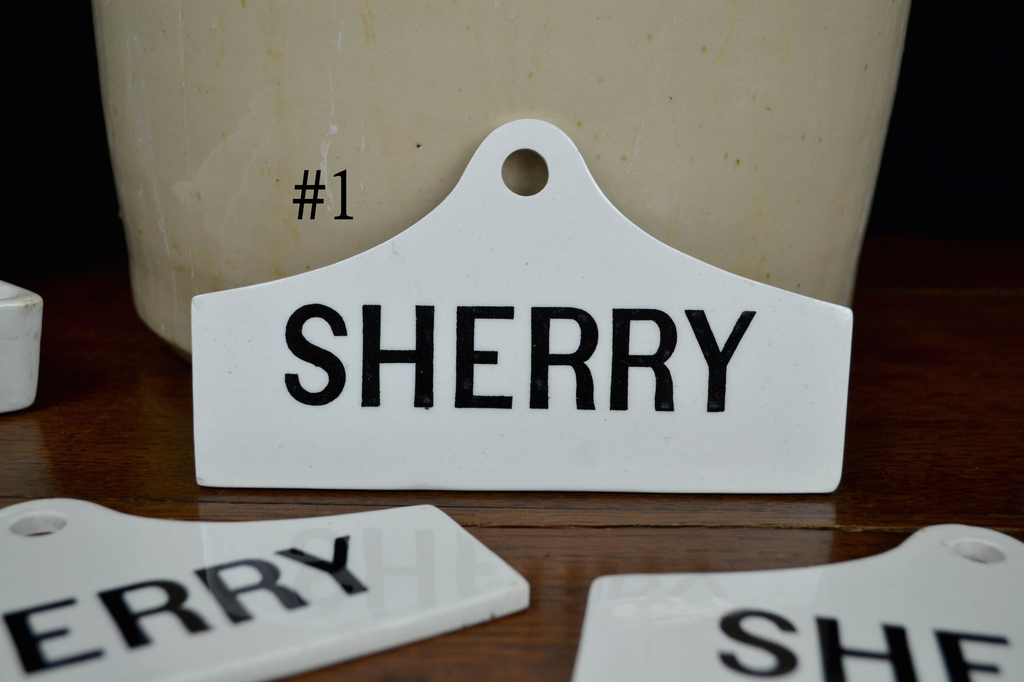 Antique Sherry Cellar Labels (One available)