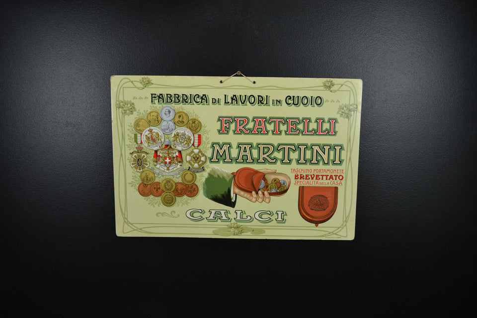 Italian 'Fratelli Martini' Leather Coin Pocket Showcard