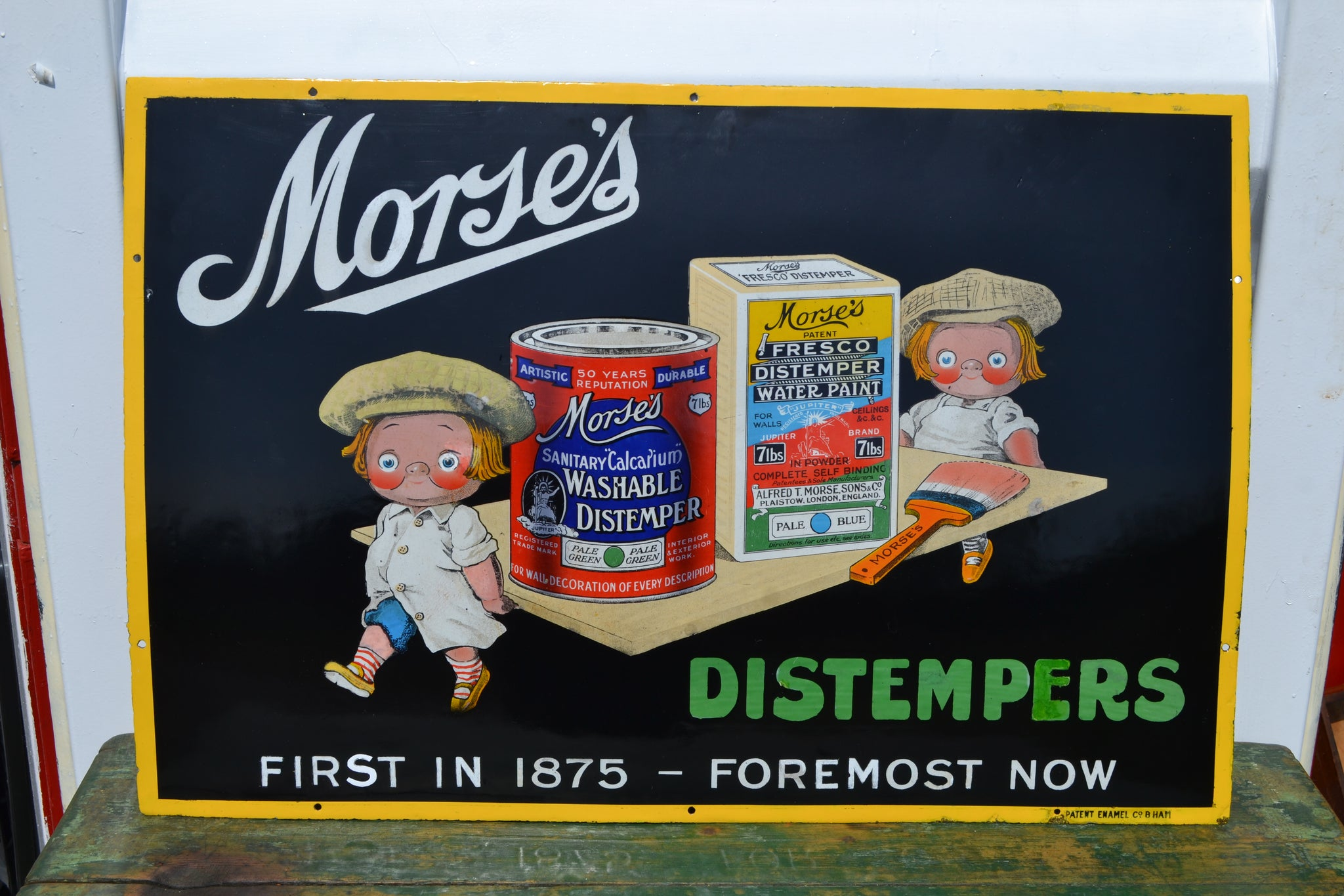 A Morse's Distempers Enamel sign
