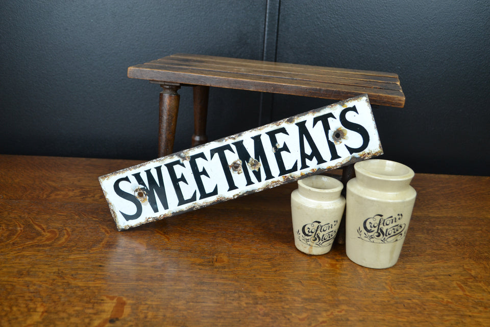 Sweetmeats enamel sign