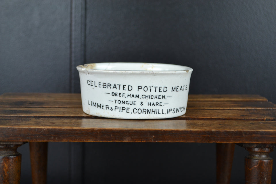 Victorian Celebrated Potted Meats Pot