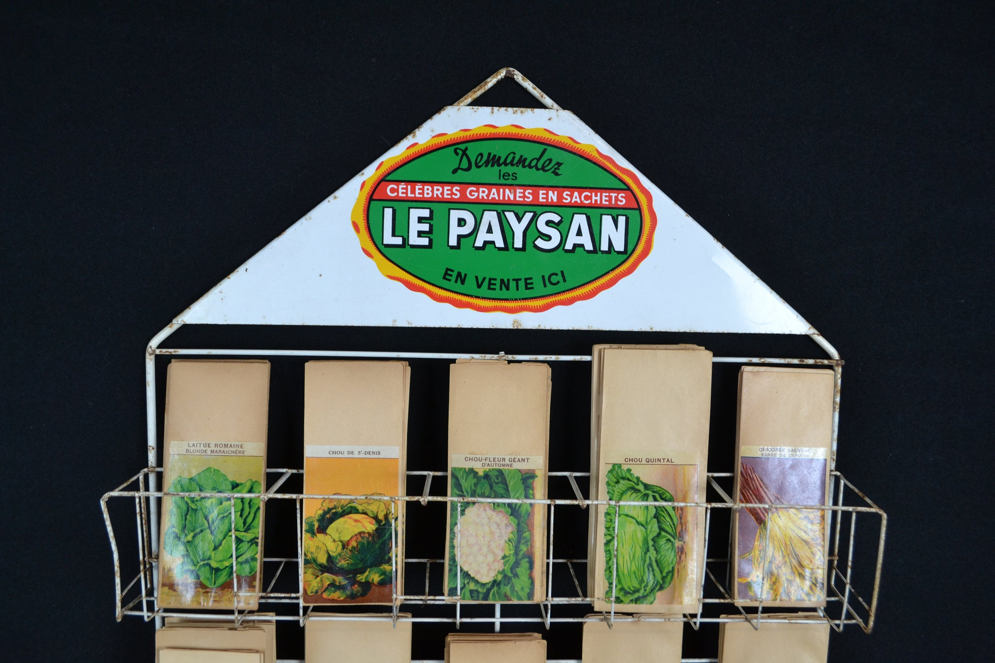 'Le Paysan Seeds' packet display stand