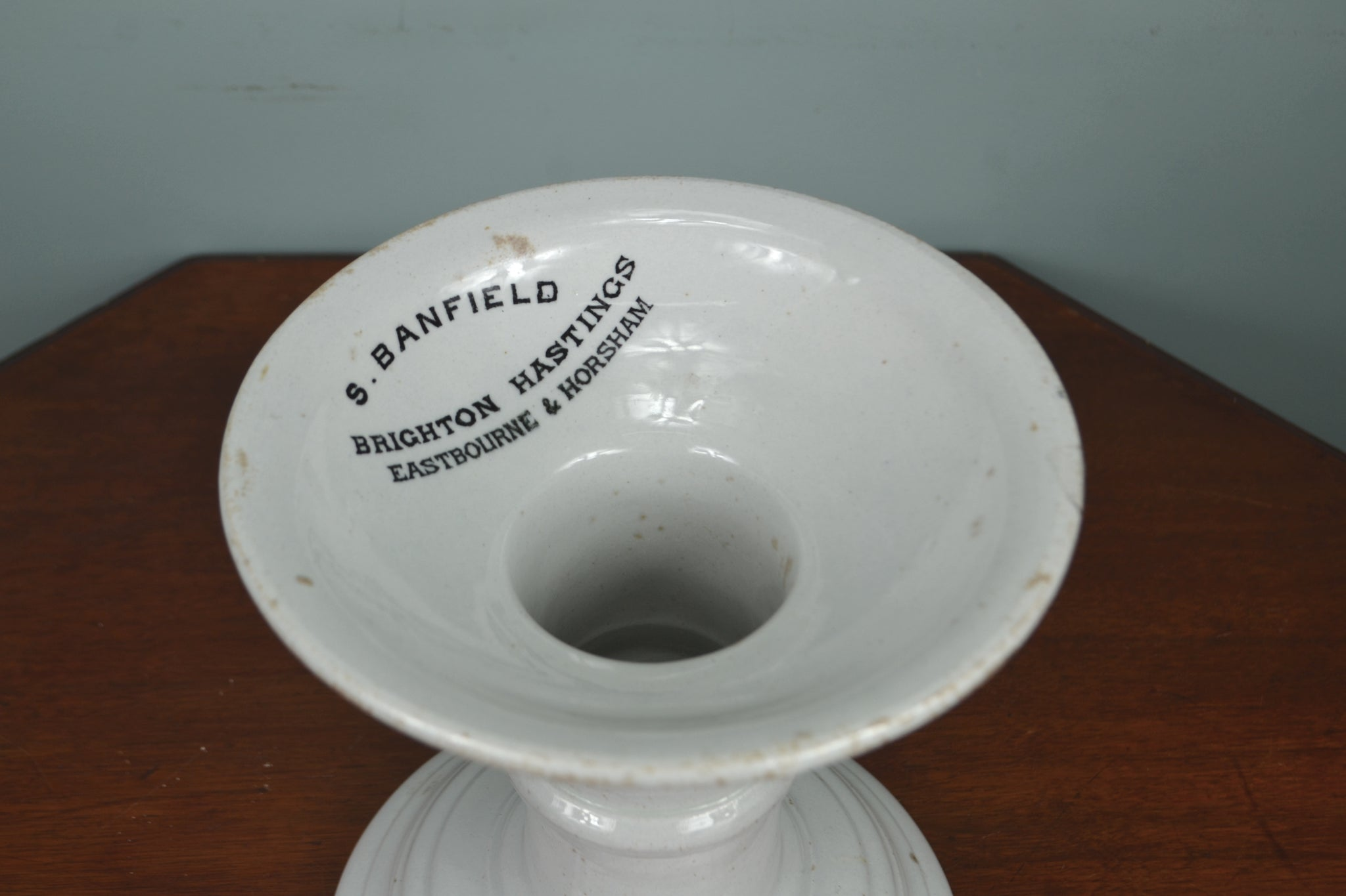 Antique S. Banfield ironstone ham stand