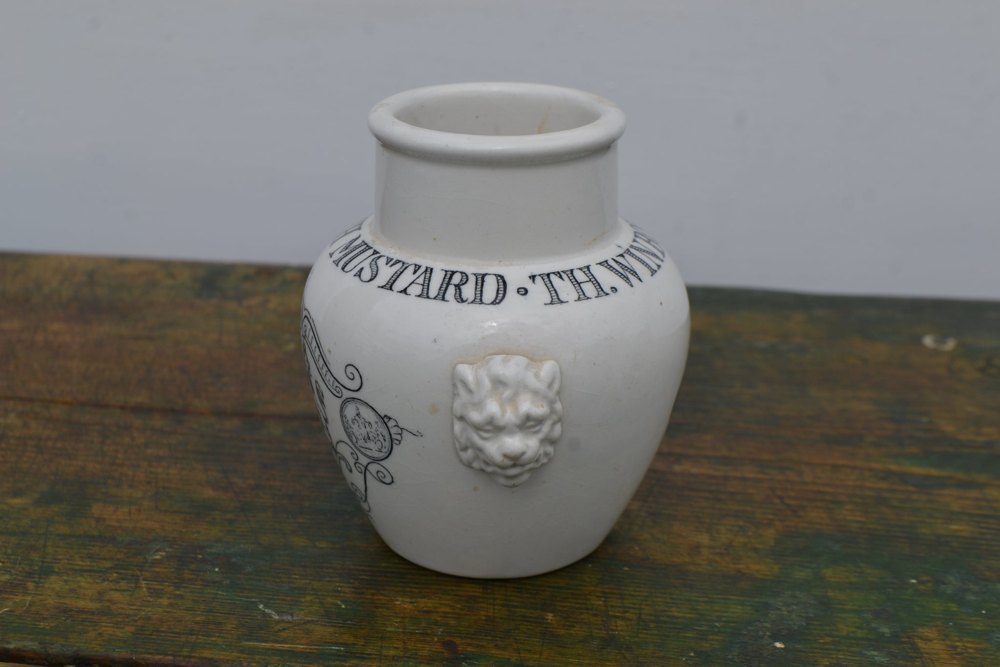A rare English Mustard pot from TH. Winborg & Co. Stockholm.