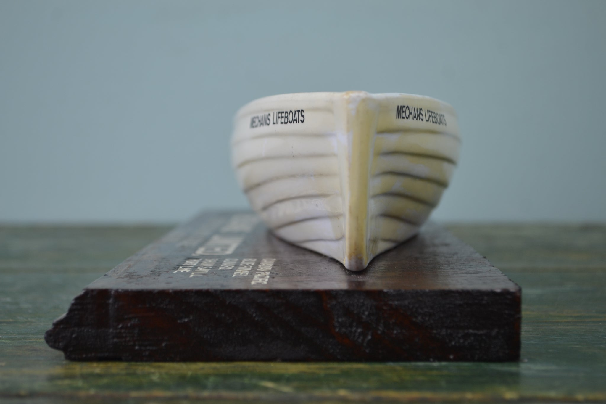 Mechans Ltd. white ironstone pottery Lifeboat