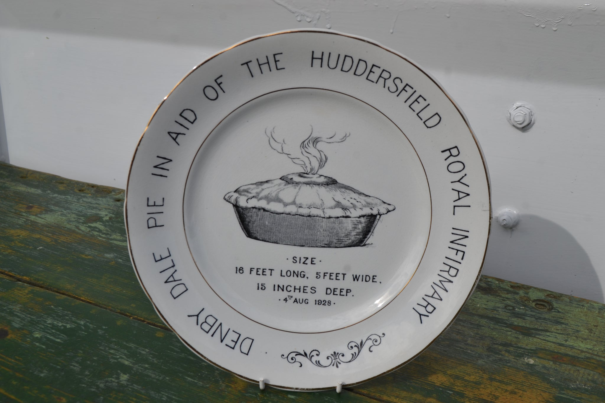 A Denby Dale commemorative pie plate