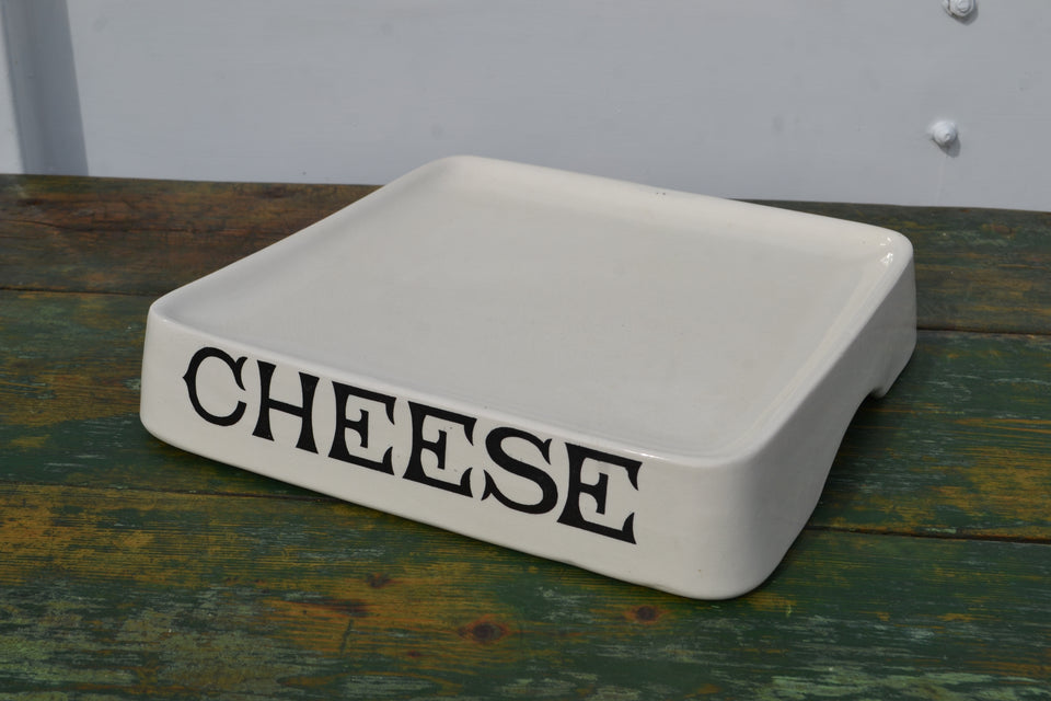 A white ironstone grocers 'Cheese' Slab