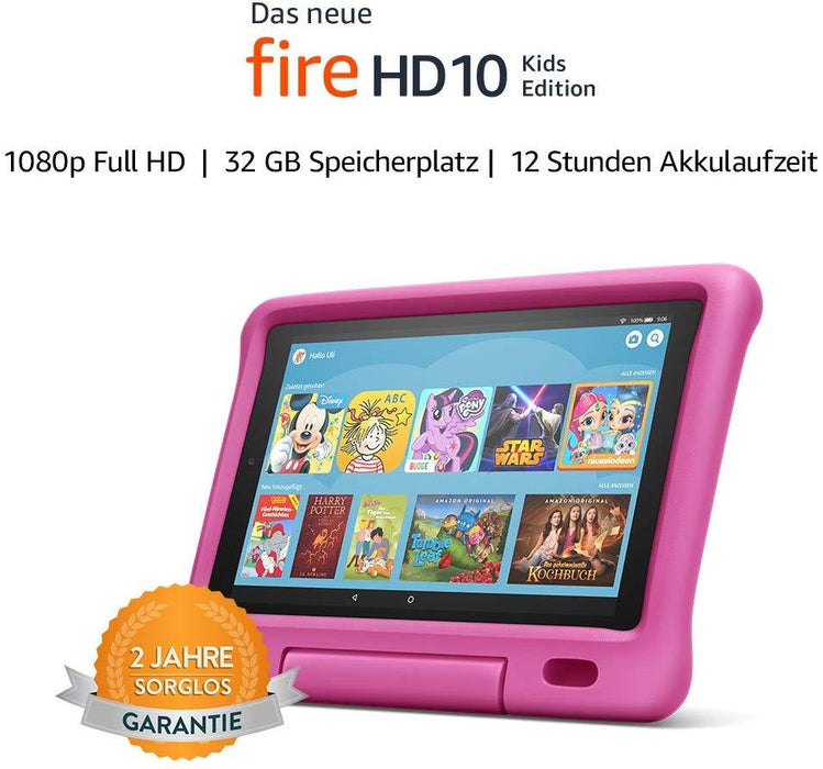 "Amazon Fire 10 ""Kids Edition""-Tablet (10""-Display, 32 GB, Pink) -  - digitrends.ch"
