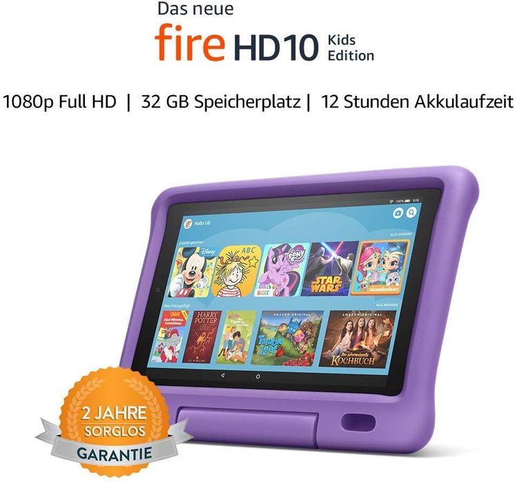 "Amazon Fire 10 ""Kids Edition""-Tablet (10""-Display, 32 GB, Violett) -  - digitrends.ch"