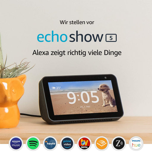 "Amazon Echo Show 5 - 5,5""-Smart-Home-Display mit Alexa (Schwarz) - intelligente Sprachassistenten - digitrends.ch"