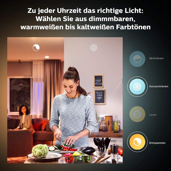 Philips Hue White & Color Ambiance Starter-Set + 2 Smart Buttons (3x E27, 9W, Bluetooth) - Glühbirnen - digitrends.ch