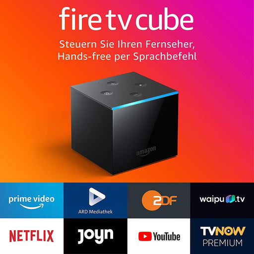 Amazon Fire TV Cube mit Alexa Hands-Free - 4K Ultra HD-Streaming-Mediaplayer