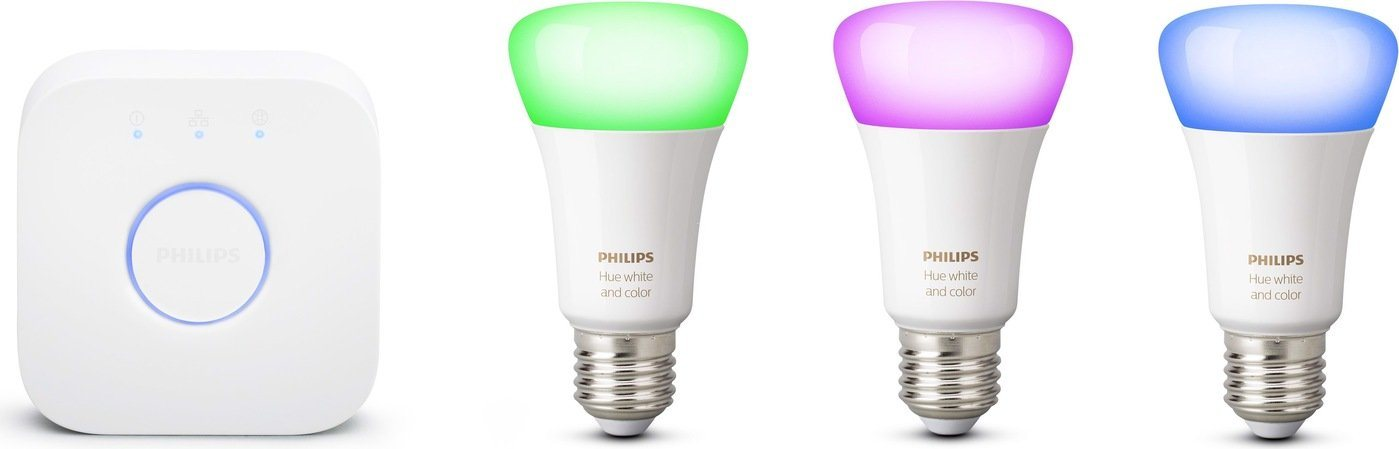 Philips Hue White & Color Ambiance Starter-Set (3x E27, 9 W, Bluetooth)