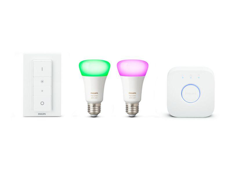 Philips Hue White & Color Ambiance Starter-Set (2x E27, 9 W, Bluetooth) - Glühbirnen - digitrends.ch