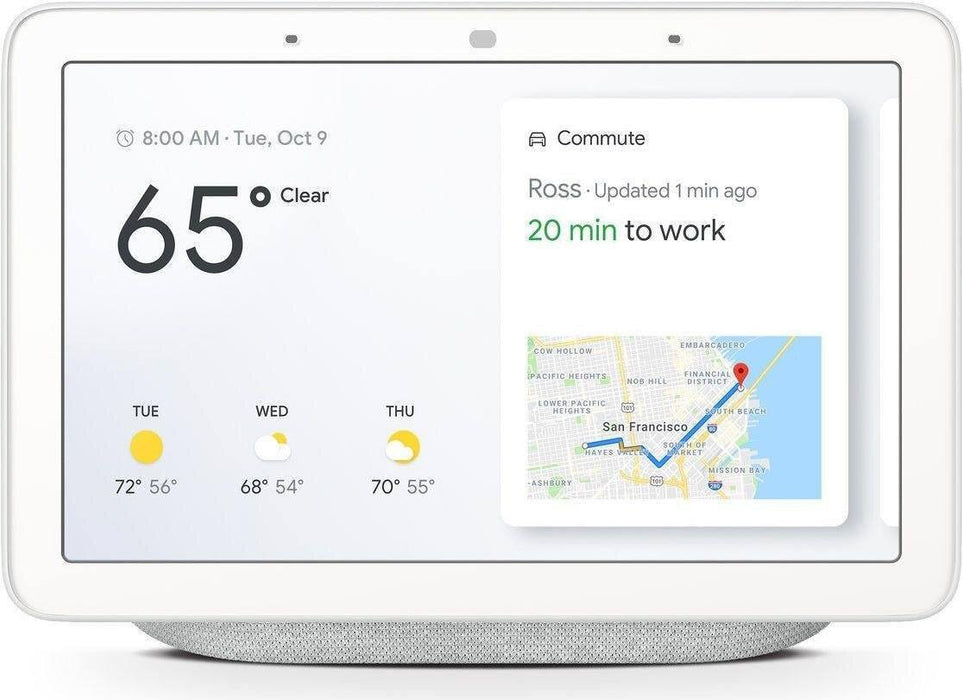 Google Nest Hub (Hellgrau/Kreide, DE-Version) - Smart Home Display - intelligente Sprachassistenten - digitrends.ch