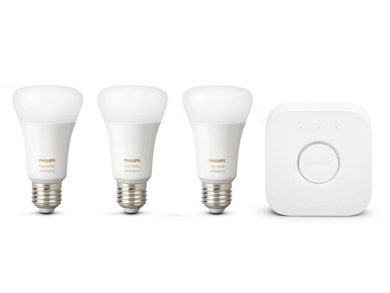 Philips Hue White & Color Ambiance Starter-Set (3x E27, 9 W, Bluetooth) - Glühbirnen - digitrends.ch