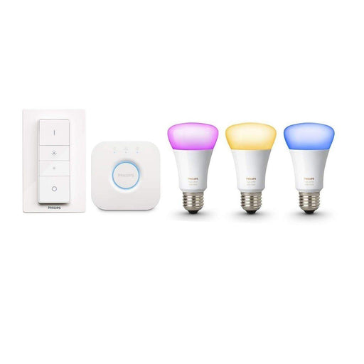 Philips Hue White & Color Ambiance Starterset + Dimmer (E27) - Glühbirnen - digitrends.ch
