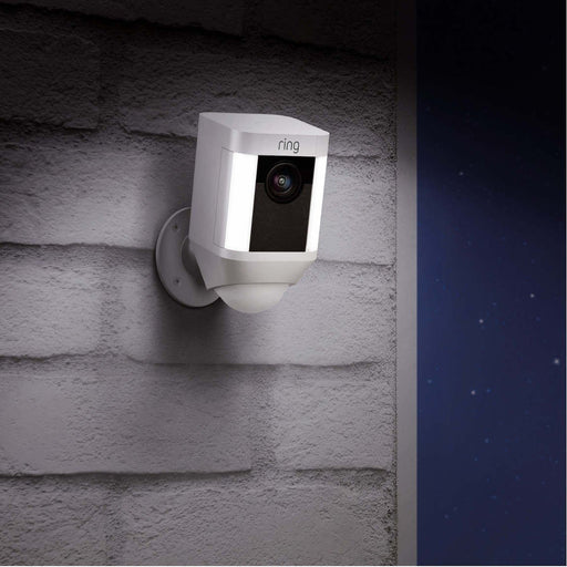 Ring Spotlight Cam - Akku, kabellos (Weiss, Outdoor) - Aussenkameras - digitrends.ch