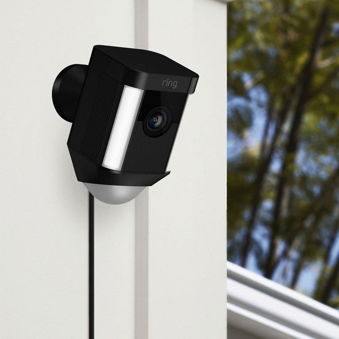 Ring Spotlight Cam - verkabelt (Schwarz, Outdoor) - Aussenkameras - digitrends.ch