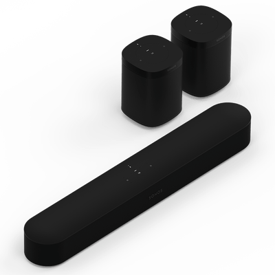 SONOS BEAM ONE Set (BEAM + 2x ONE) - WLAN-Lautsprecher - digitrends.ch