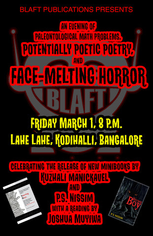 Blaft books event at Lahe Lahe, Indira Nagar, Bangalore, March 1, 8 p.m.
