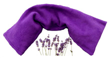 Giant lavender wheat bag with purple fleecy cover