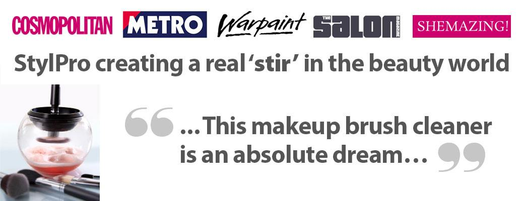StylPro makeup brush cleaner recommended