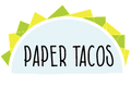 Paper Tacos Greeting Cards in Spanish