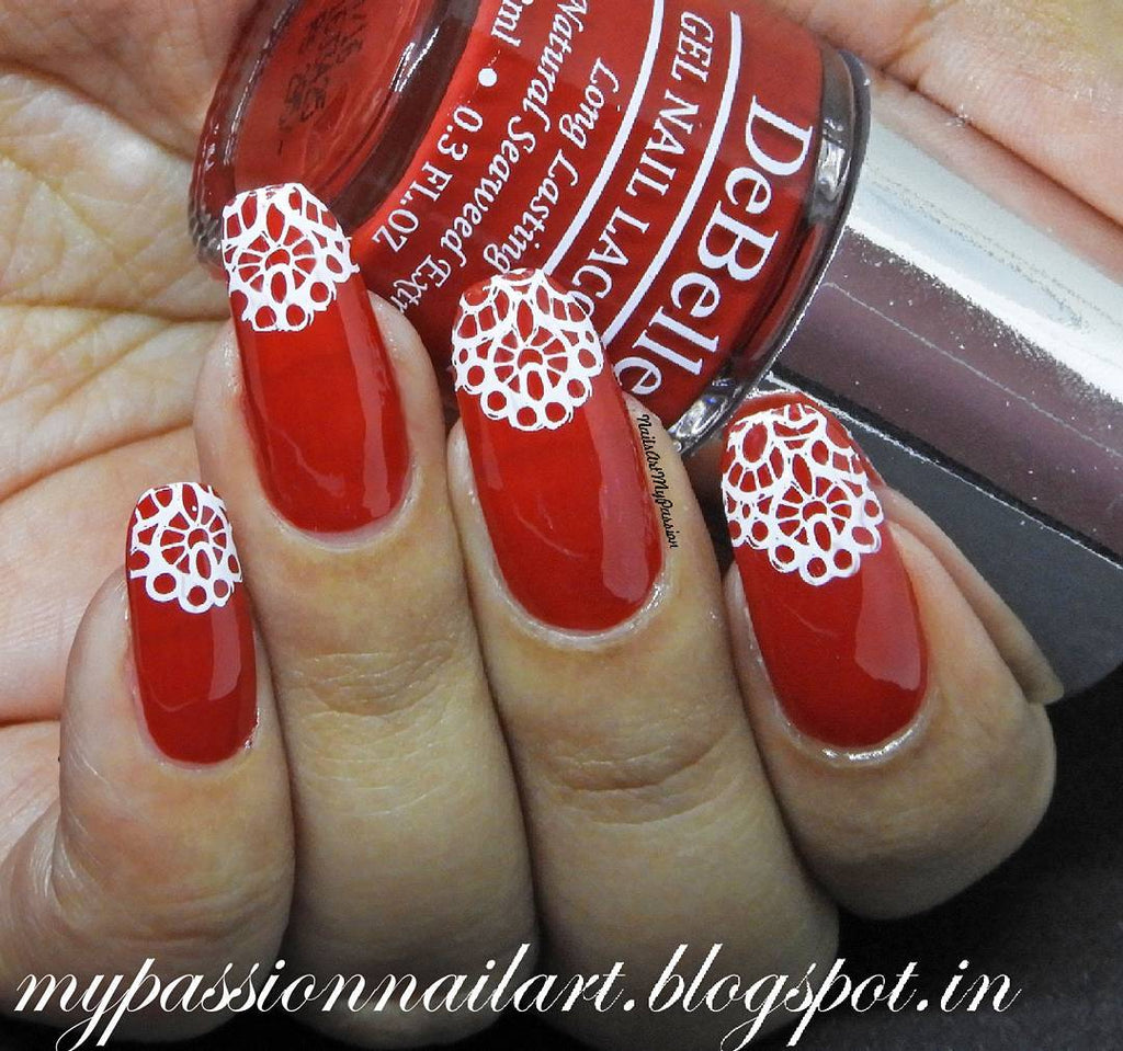 7 Creative Red Nail Art Designs That You Should Try - sweater nail art design, red sweater nail art design