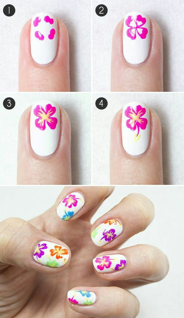 Floral Nail Art Designs For Beginners, Trendy Flower Nail Art Ideas, Easy Floral Nail Art