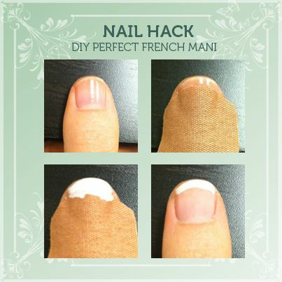 Use A Band-Aid for an At-home French Manicure