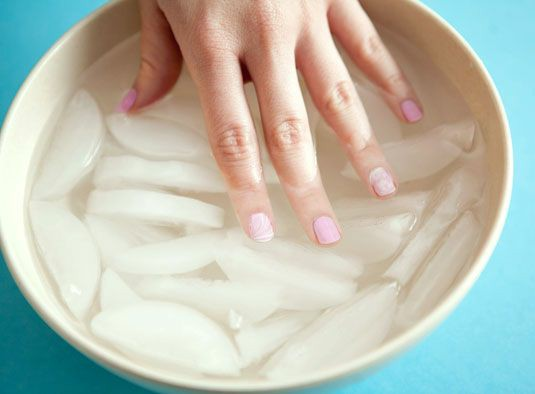 Quickly Dry Off Your Manicure With Ice Water