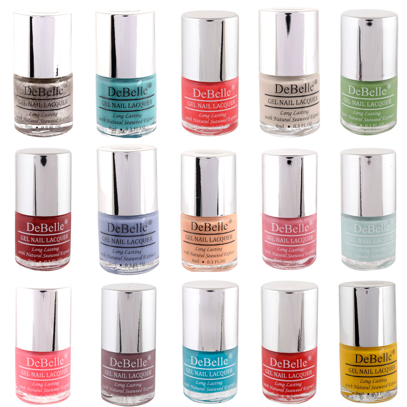 Nail polish multicolor combo  of 15 colorful 8ml nail lacquers