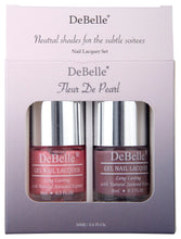 Load image into Gallery viewer, DeBelle Nail Lacquer set Fleur De Pearl gift pack of 2 Miss Bliss , Majestique Mauve - 8ml each