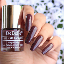 Load image into Gallery viewer, DeBelle Gel Nail Lacquer Plum Toffee - (Burgundy Nail Polish), 8ml