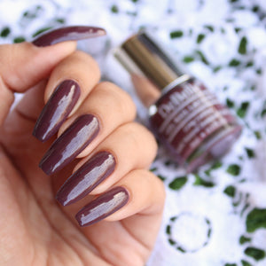 DeBelle Gel Nail Lacquer Plum Toffee - (Burgundy Nail Polish), 8ml