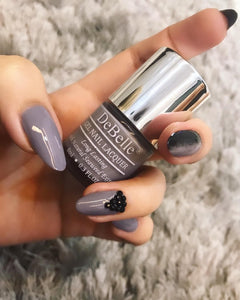 Sombre Grey Nail Art - Easy Grey Nail Art