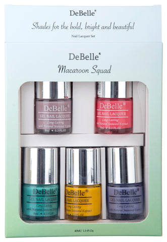 DeBelle nail polish light majenta bottle