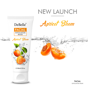 Facial Exfoliator Mask (Face Scrub + Mask) Pack of 2 (100 ml Each) - Apricot Bloom & Lime Light