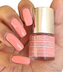 DeBelle Gel Nail Lacquers Combo of 3 Chrome Beige (Metallic Beige) , Roselin Fiesta (Metallic Rose Pink) and Apricot Dew (Pastel Pale Pink), 24 ml